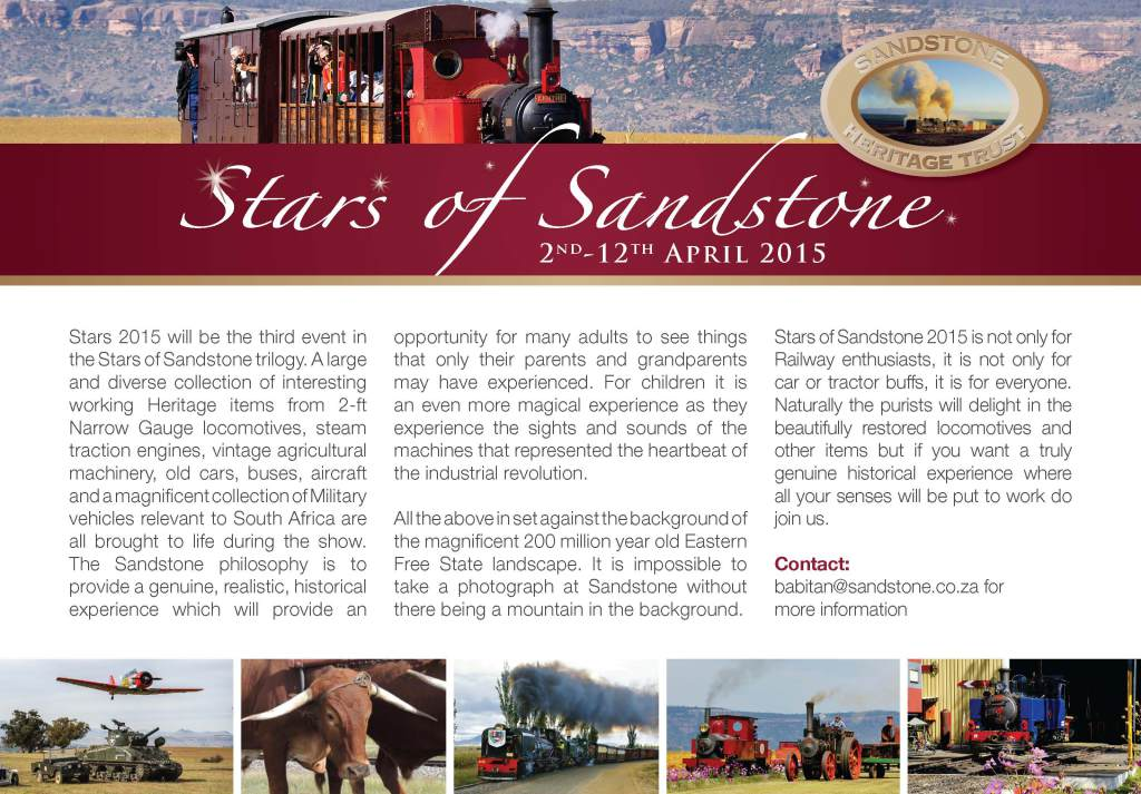 stars of sandstone 2015 flyer