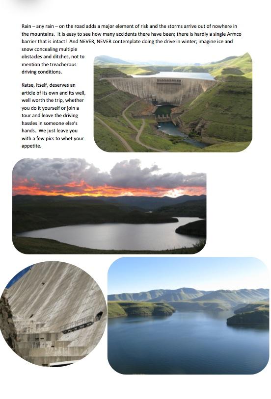 Clarens to Katse Dam