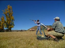 Clay pigeon shooting in Clarens