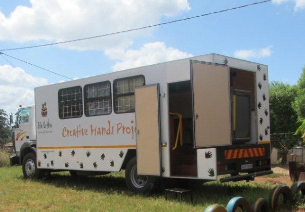 Creative hands truck cropped