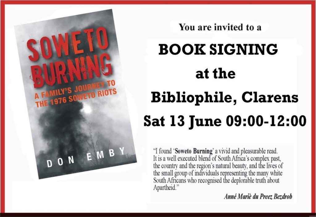 Sowetho Burning signing